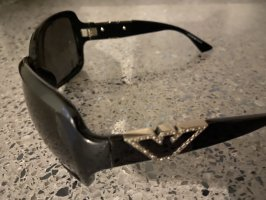 Armani Occhiale stile retro nero-argento