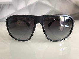 Armani Lunettes de soleil ovales gris anthracite-noir