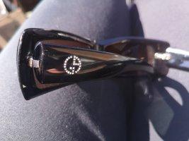 Armani Hoekige zonnebril zwart