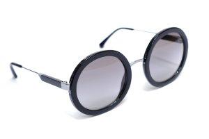 Armani Round Sunglasses black-silver-colored metal