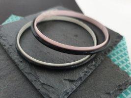 Armbänder, Hippie, Retro,Weiß/Schwarz/Rosa