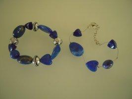Yves Rocher Braccialetto sottile argento-blu