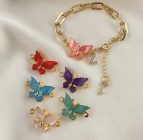 KD Brazalete de oro multicolor