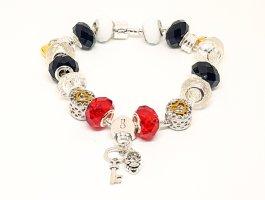 Bracelet à breloques multicolore métal