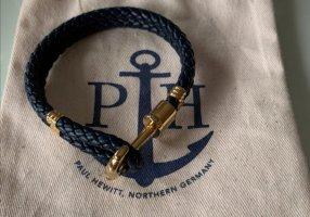 Paul Hewitt Armband goud-blauw