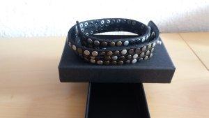 Liebeskind Bracelet en cuir noir cuir