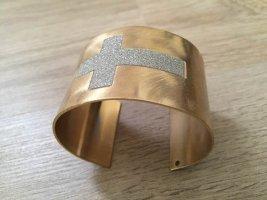 Bijou Brigitte Sztywna bransoletka srebrny-złoto