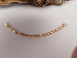 Armband 925er Silber gelbvergoldet mit champagnerfarbenen Zirkonia