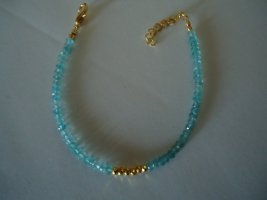 Bracelet gold-colored-azure