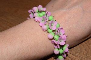 Softwalk Handmade Bracelet purple-lime-green
