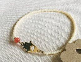 Armband aus Miyuki Perlen | Fatimas Hand Charm Gold | Jadestein
