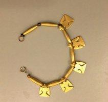 Charm Bracelet sand brown metal