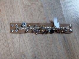Armband beige-zilver