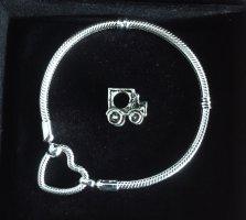 Armband / Bettelarmband  Herzverschluss mit Charm NEU