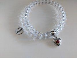 Armband böhmische Kristallperlen mit Zirkoniaherz