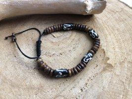 Armband Bone Holz Perlen Motiv Om Zeichen
