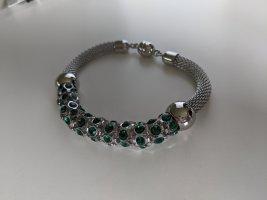 Armband Chirurgenstahl mit grünen Zirkoniasteinchen