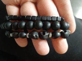 H&M Bracelet black-silver-colored