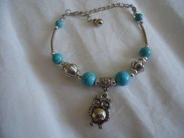 Armband lichtgrijs-korenblauw