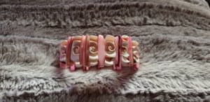 Bracelet blanc-rose