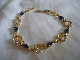 Armband goud-blauw