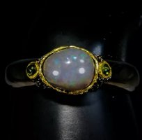 Armband, Groß schwarz Opal