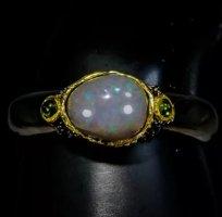 Armband zilver-donkergrijs