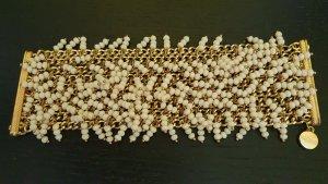 Hallhuber Armband met parels goud-wolwit