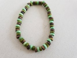 Modeschmuck Armband met parels neon groen-groen
