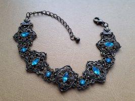 Vintage Bracelet bronze-bleu clair