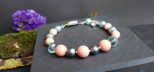 Bracelet light pink-azure