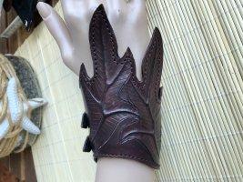 Leather Bracelet dark brown leather