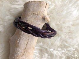 handmade Bracelet en cuir brun pourpre cuir
