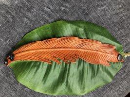 handmade Bracelet en cuir orange foncé cuir