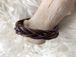handmade Bracelet en cuir brun foncé cuir