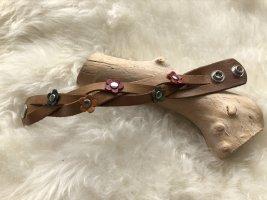 Handmade Bracelet en cuir marron clair cuir
