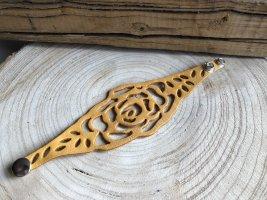 Handmade Skórzane ozdoby na ręce  złotopomarańczowy Skóra