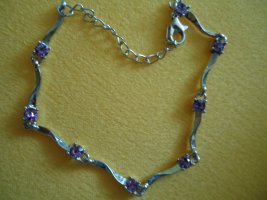 Armband lila silberfarben