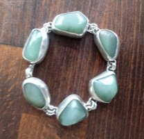 Silver Bracelet silver-colored-lime-green real silver