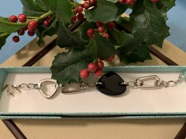 Pierre Lang Bracelet noir-argenté