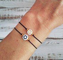 Armband mit schwarzer Blume NEU und größenverstellbar