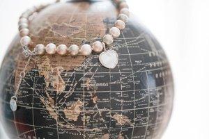 Armband Mosaik NEU Perlenarmband beige / bronze