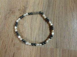 Pearl Bracelet natural white-anthracite