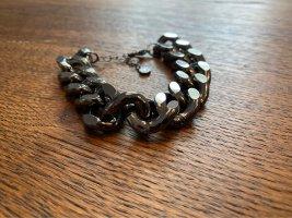 Silver Bracelet black