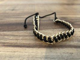 Armband Schwarz-Gold