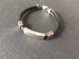 Zilveren armband zwart-zilver
