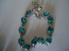 Armband silber Aquamarine