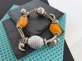 Armband Silberfarben Senfgelbe Steine Armschmuck
