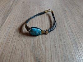 Bransoletka czarny-jasnoniebieski