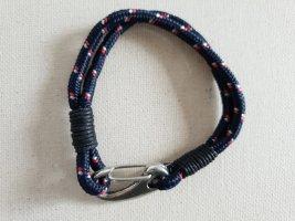 Armband Stoff Muster Blau Armschmuck Men Herren